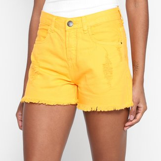Shorts Jeans Hering Destroyd Feminino