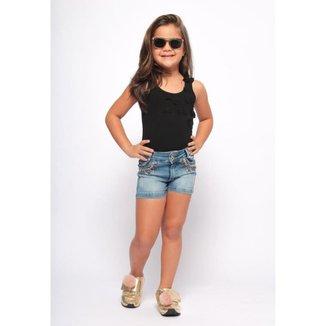 Shorts Jeans Infantil MRX Jeans Feminino