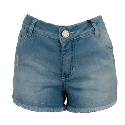Shorts Jeans Knt Desfiado-Feminino