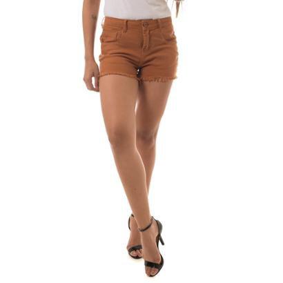 Shorts Jeans Osmoze Ease Whisky Feminino-Feminino