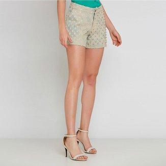 Shorts Jeans Ralm Tricot Feminino