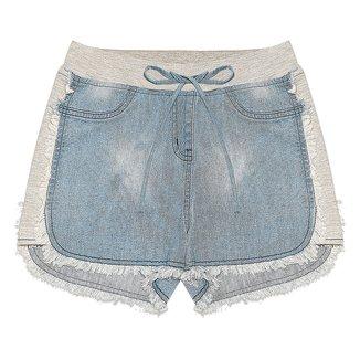 Shorts Juvenil Rovitex Jeans Mixed Feminino