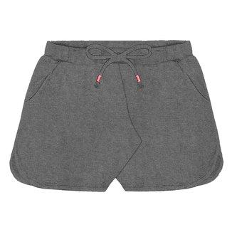 Shorts Juvenil Rovitex Moletinho Básico Feminino