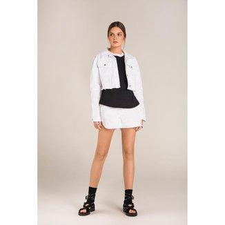 Shorts Lebôh Comfort Tinturado Branco