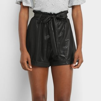 Shorts Lily Fashion Clochard Com Botões Feminino