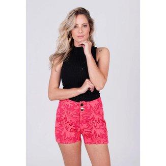 Shorts Limone Rendado Verde - M
