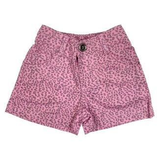 Shorts Look Jeans Onça Collor Feminino