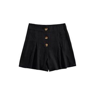 Shorts Lunender Viscose e Botões Feminino