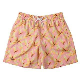 Shorts Masculino Mash Estampado Folha Seca Rosa Claro - 613.70