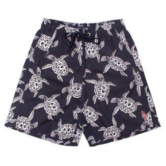 Shorts Midnight Turtle Aleatory Masculino