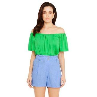 Shorts Miss Joy Linho Clochard Feminino