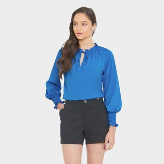 Shorts Miss Joy Sarja Alfaiataria Feminino