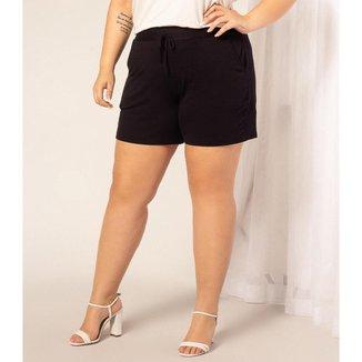 Shorts Molecotton Rovite Plus Plus Feminino