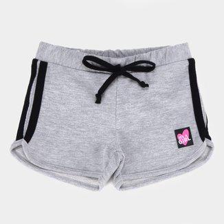 Shorts Moletinho Infantil Pulla Bulla Listras Lateral Feminino