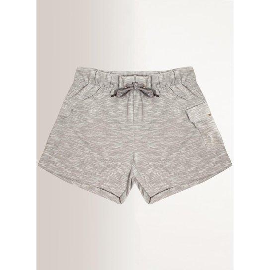 Shorts Moletom Aleatory Feminino - Cinza