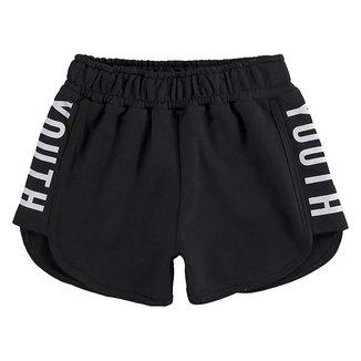 Shorts Moletom Infantil Kyly Yuoth Feminino