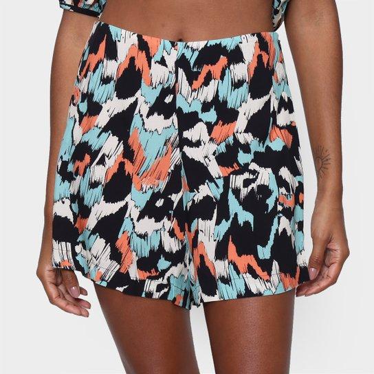Shorts Oh Boy Estampado Curto Feminino - Colorido