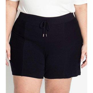 Shorts Plus Size de Molecotton Rovitex Plus Preto Plus G4