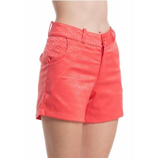 Shorts Ralm Tricot Bolso Feminino - Coral
