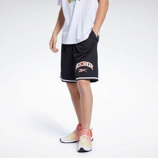 Shorts Reebok Bolso Grafismo Mesh 100% Poliéster Reciclado Masculino