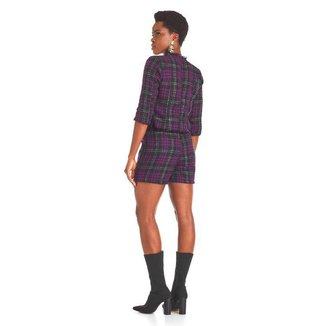 Shorts Saia  Adeliana Tweed-Roxo-M