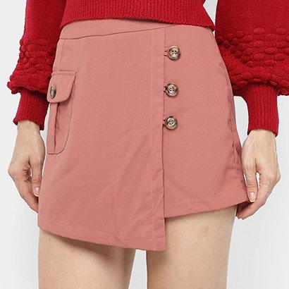 Shorts Saia Adooro! Com Bolso E Botões Feminino
