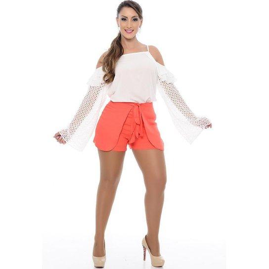 Shorts Saia B'Bonnie Feminino - Coral