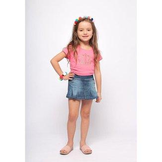 Shorts Saia Jeans Infantil MRX Jeans Feminino