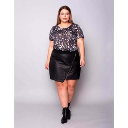 Shorts Saia  Plus Size Palank Costanera Feminino-Feminino