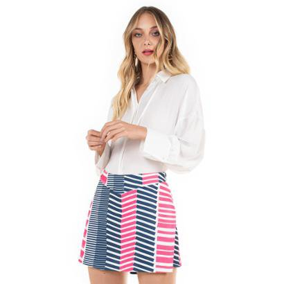 Shorts Saia Richini Curto Feminino