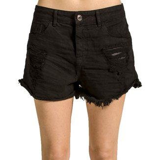 Shorts Sarja Destroyed Alphorria Feminino