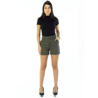 Shorts sarja feminino verde