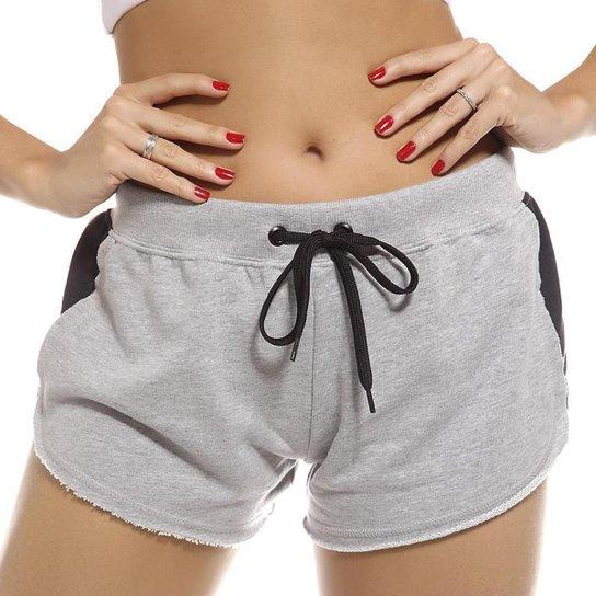 Shorts Sstyle Fitness com Cordão de Amarração Feminino - Cinza