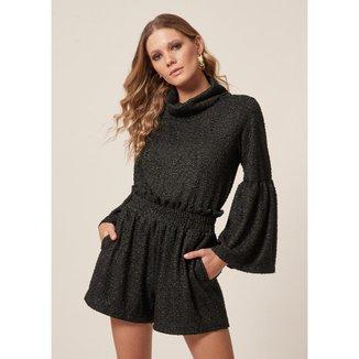 Shorts Tweed Lurex    Feminino