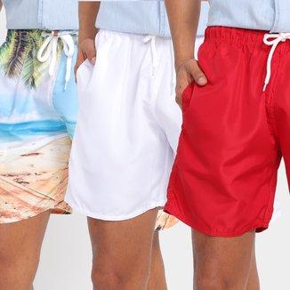 Shorts Wall Masculino LISO+ESTAMPADO-W8201