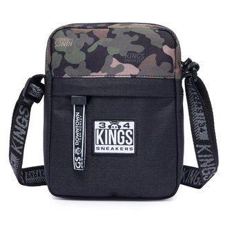 Shoulder Bag Kings Sneakers Transversal Camuflada Masculina