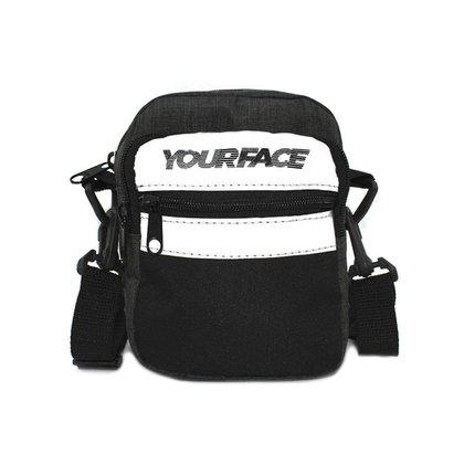 Shoulder Bag Your Face Shiny Grafite