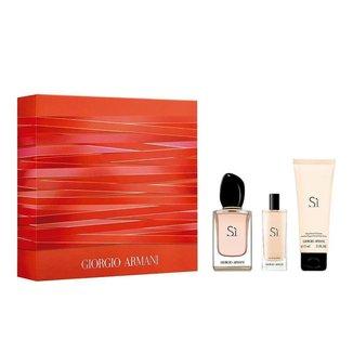 Sì Giorgio Armani Kit – Perfume Feminino EDP + Travel Size + Leite Corporal Kit
