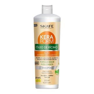Skafe Keraform Óleo de Rícino – Shampoo 500ml