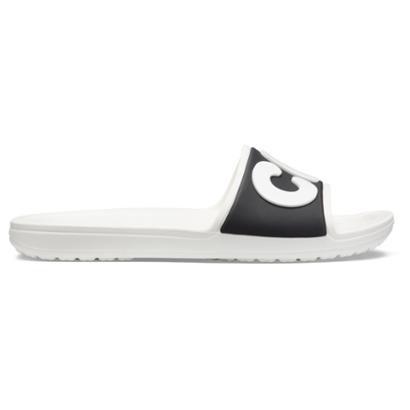 Slide Crocs Sloane Logo Black Feminino-Feminino