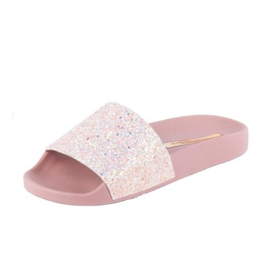 Slide Moleca Com Glitter - Rose Gold