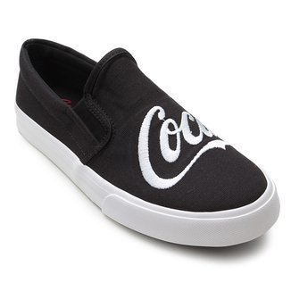 Slip On Coca-Cola Iate Bordado Feminino