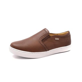Slip On Confort Em Couro Shoes Grand Masculino