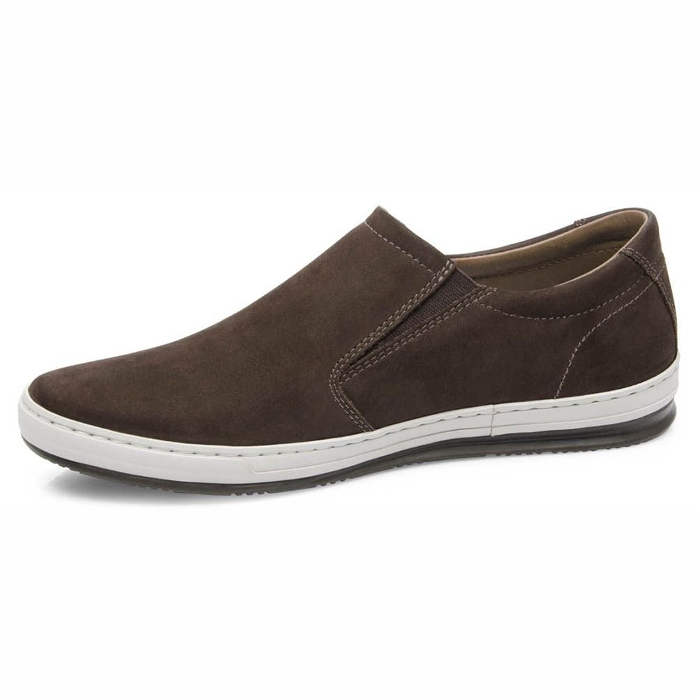 Slip Masculino On Couro Couro Levy Marrom Freeway Freeway Slip On qRwqr8v