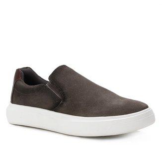 Slip On Couro Shoestock Suede Masculino