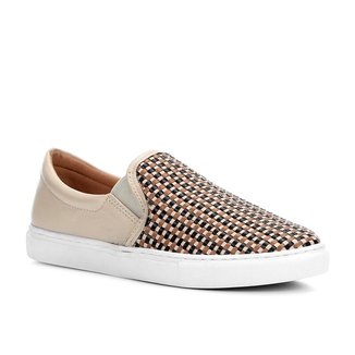 Slip On Couro Shoestock Tressê Feminino