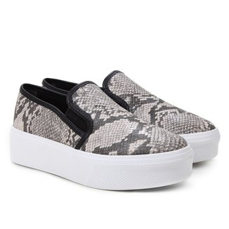 Slip On Flatform Via Uno Snake Feminino