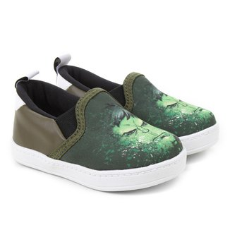 Slip On Infantil Marvel Hulk Masculino