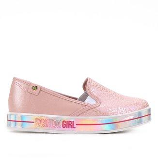 Slip On Infantil Molekinha Fashion Girl Feminino