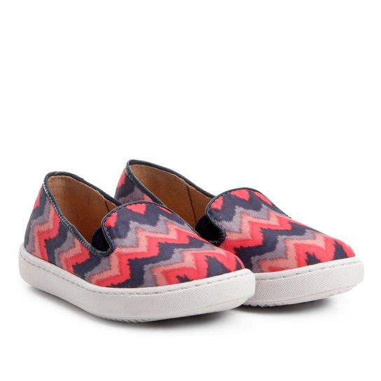 Slip On Infantil Shoestock Tecido Feminino - Pink